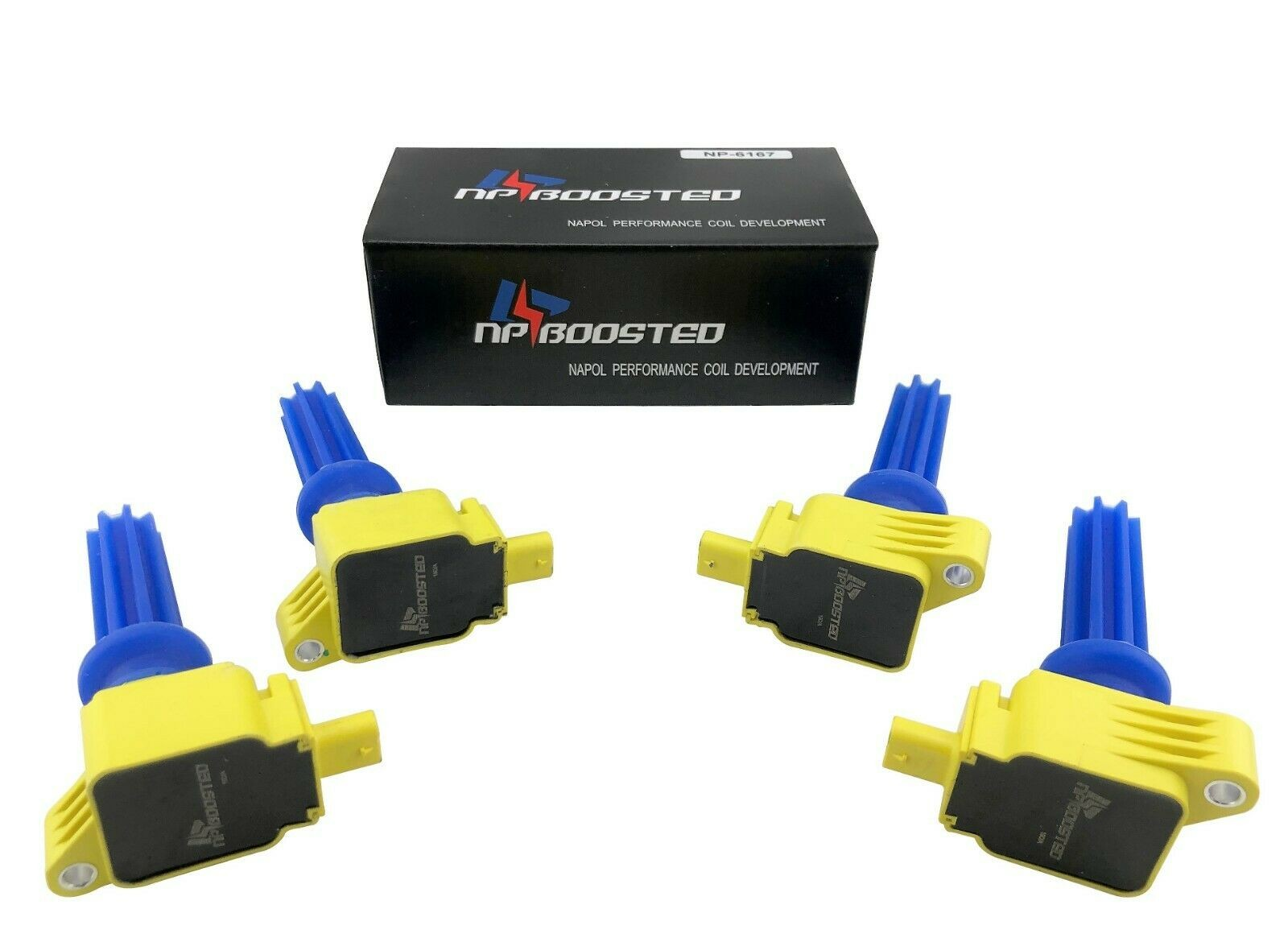 4 Ignition Coil Packs for 2012-2019 Ecoboost Mustang Focus RS 2.3L ST 2.0L Turbo