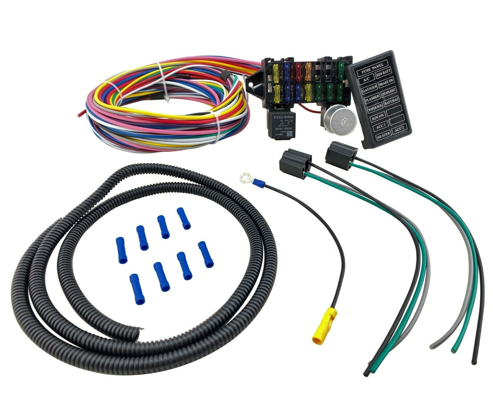 12 Circuit Universal Main Wiring Harness Kit Muscle Car