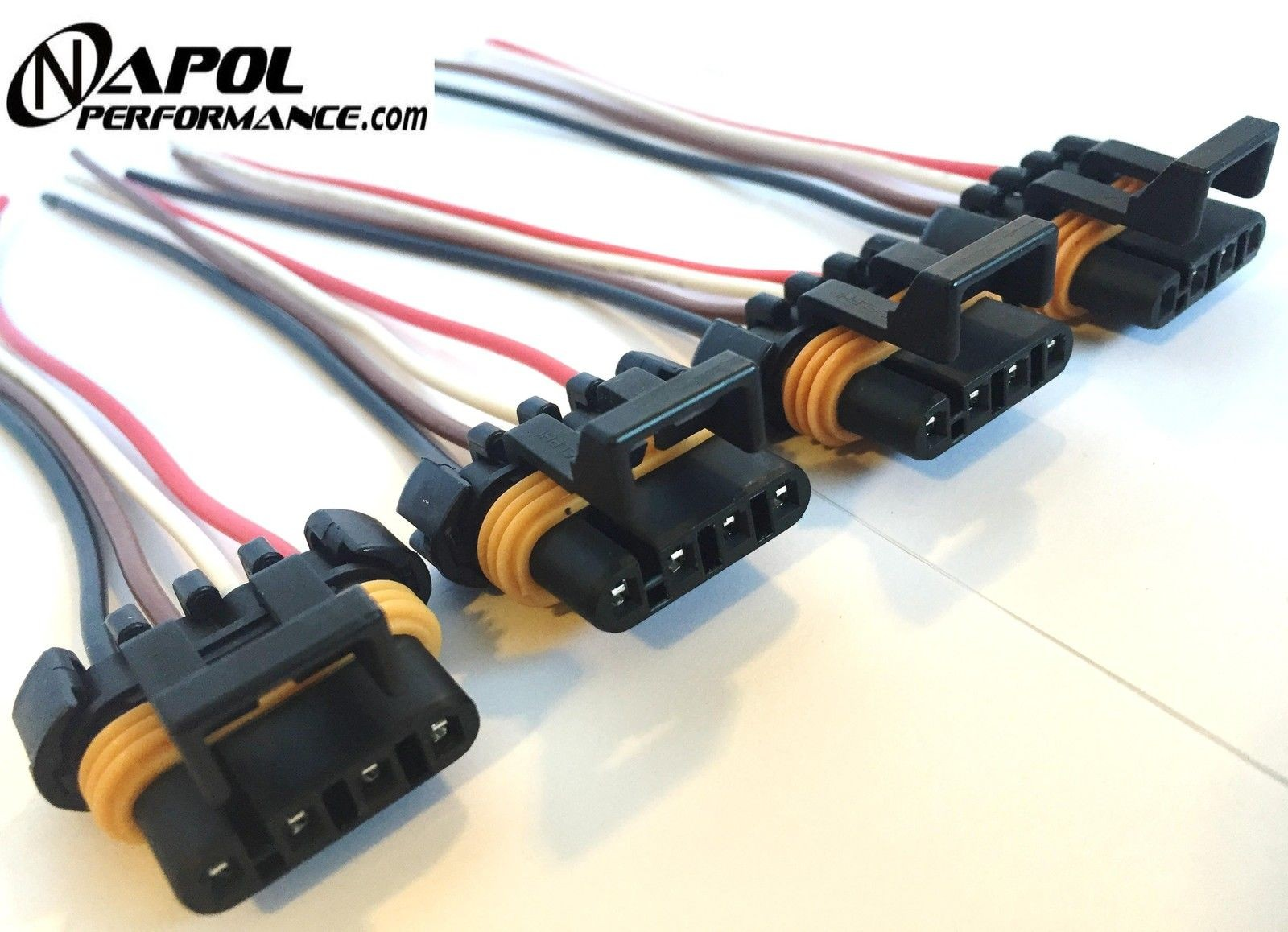 4 X Ls1 Ls6 Ignition Coil Wiring Harness Pigtail Connector Gm Camaro Gmc Obd2 Diagram Corvette