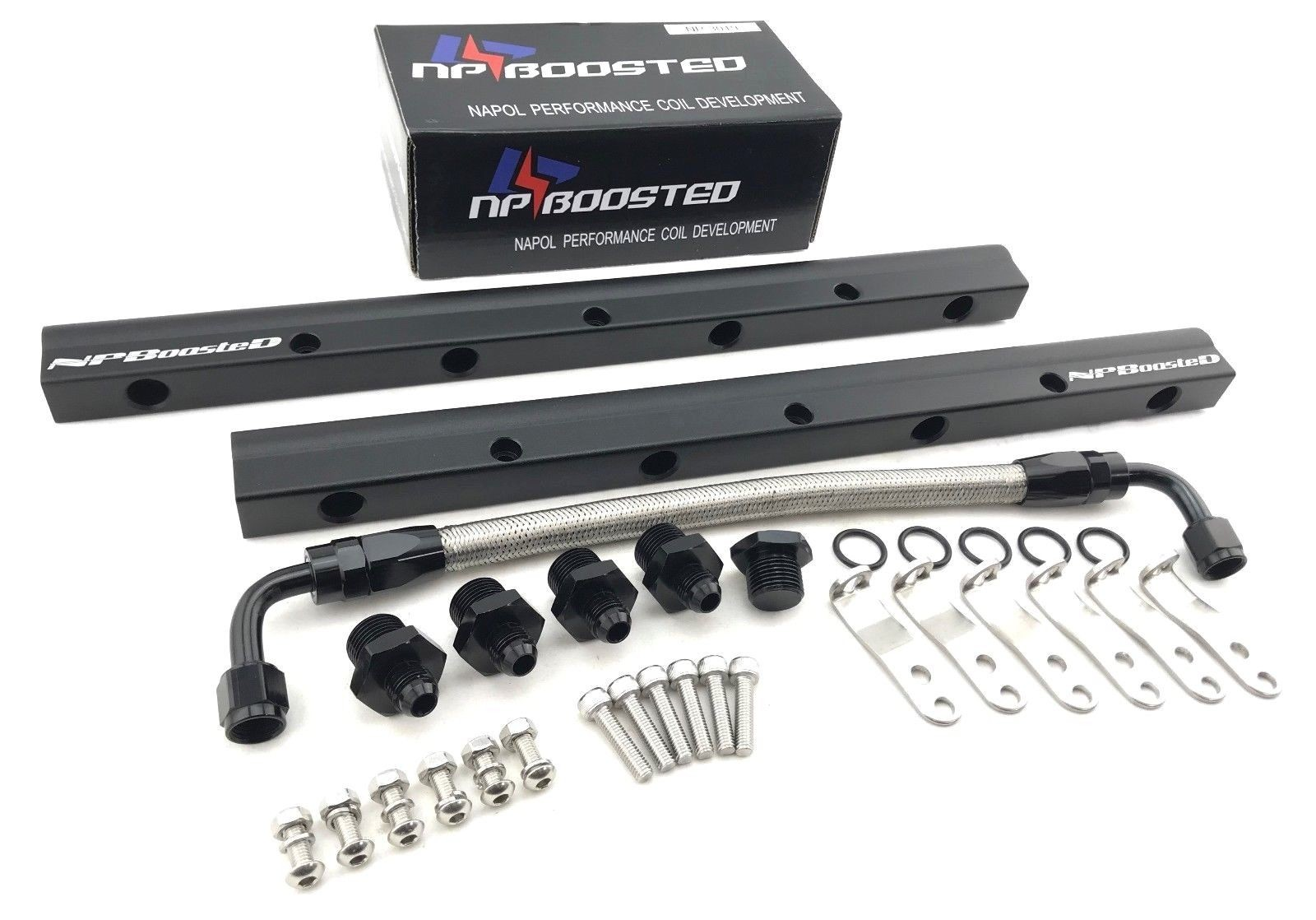 Aluminum Custom Fuel Rail & Middle Pipe LS1 LS3 LS6 LSX Engine Hardware Included