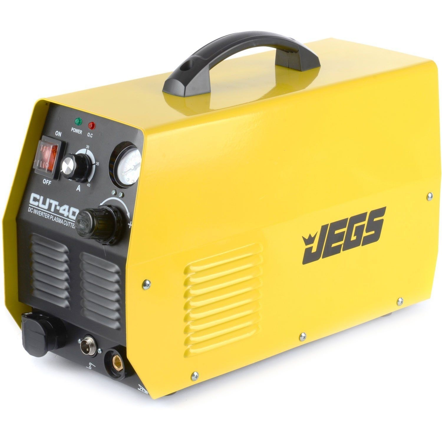 """JEGS 20-40 AMP Yellow Plasma Cutter - Up To 3/8"""" Thick"""