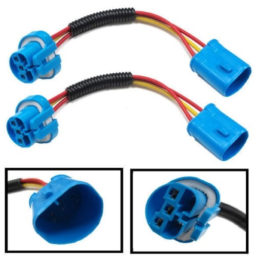 9004 & 9007 HB5 Extension Wiring Harness Sockets Wire For Headlights & Fog Lights