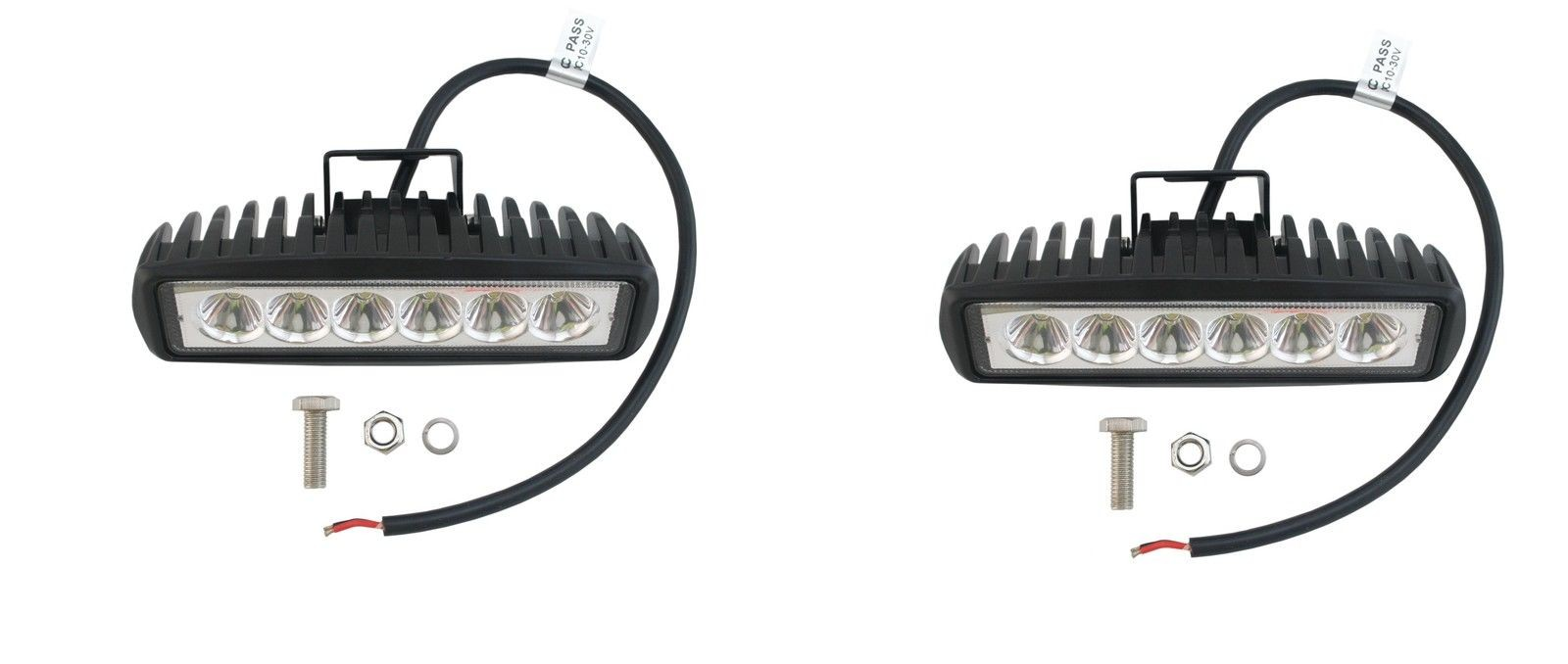 6 Inch 18W Pair of CREE LED Spot Light Bars