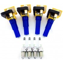 4 IGNITION COIL PACKS for IMPREZA WRX 2002-2005 LEGACY & SPARK PLUGS B4 FORESTER