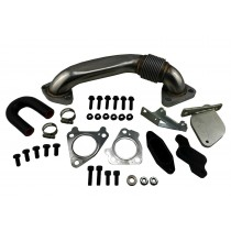 Right Side Up Pipe & EGR Delete Kit for 07-10 LMM 6.6L Duramax Diesel 2500 3500