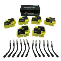6 Pack Ignition Spark Coil Packs & Plug Wire Sets for CLK ML320 ML350 S350 SLK32