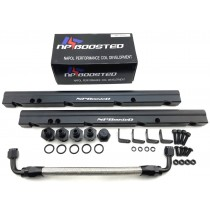 NPBoosted LS1 LS6 Billet Aluminum High Performance / Hi Flow Fuel Rail Kit Black