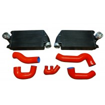 Upgraded Turbo Intercoolers & Silicon Hose Kit for 01-09 911 996 997 TT GT2 3.6L