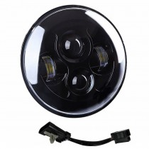 "7"" Motorcycle Black Projector Daymaker Led Light Bulb Headlight For Harley 7 Led"