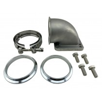 """3"""" Vband 90 Degree Elbow Adapter Flange & Bolts for Exhaust Manifold to T4 + T3"""