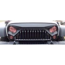 Matt Black Angry Bird Front Grill Cover Guard For 2007-2017 Jeep JK Wrangler