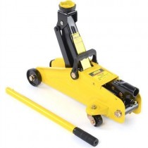 "JEGS 2 Ton Yellow Steel Trolley Jack 17-1/2"" L X 7.5"" W"