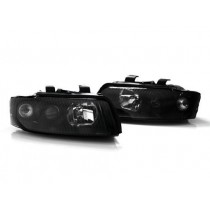 02-05 Audi A4/S4 B6 Sedan/Wagon Helix by Depo E-Code Projector Headlights Black