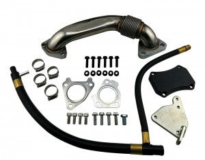 EGR Removal Kit Block Off Plates & Up Pipe for 2011-15 GM 6.6 LML Duramax Diesel