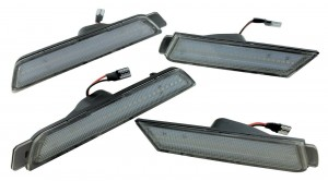Front Rear Clear Side Markers LED Light Bulb Bumper Reflectors FOR 10-15 Camaro