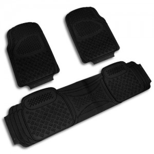 Spec-D MAT-3001BLK Black All Weather Floor Mats 3pcs