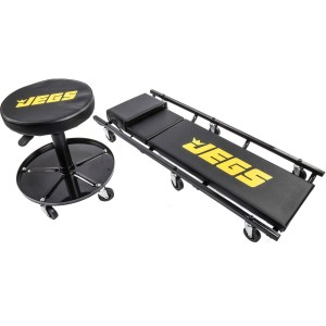 JEGS Creeper and Air Seat Set w/ 3-Position Adjustable Headrest