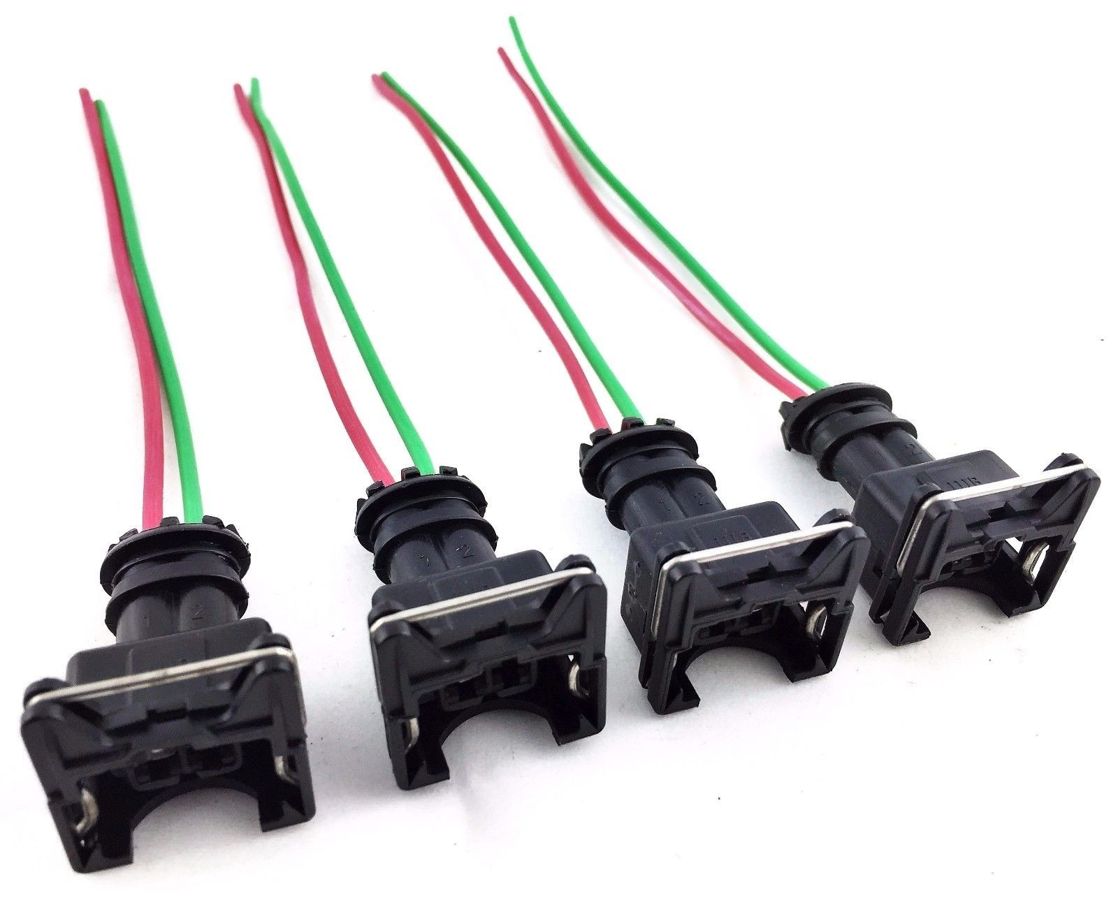 4 Rc Fuel Injector Connector Wiring Harness Plug Clips Bosch Ev1 Electrical Pigtail Obd1 Gm